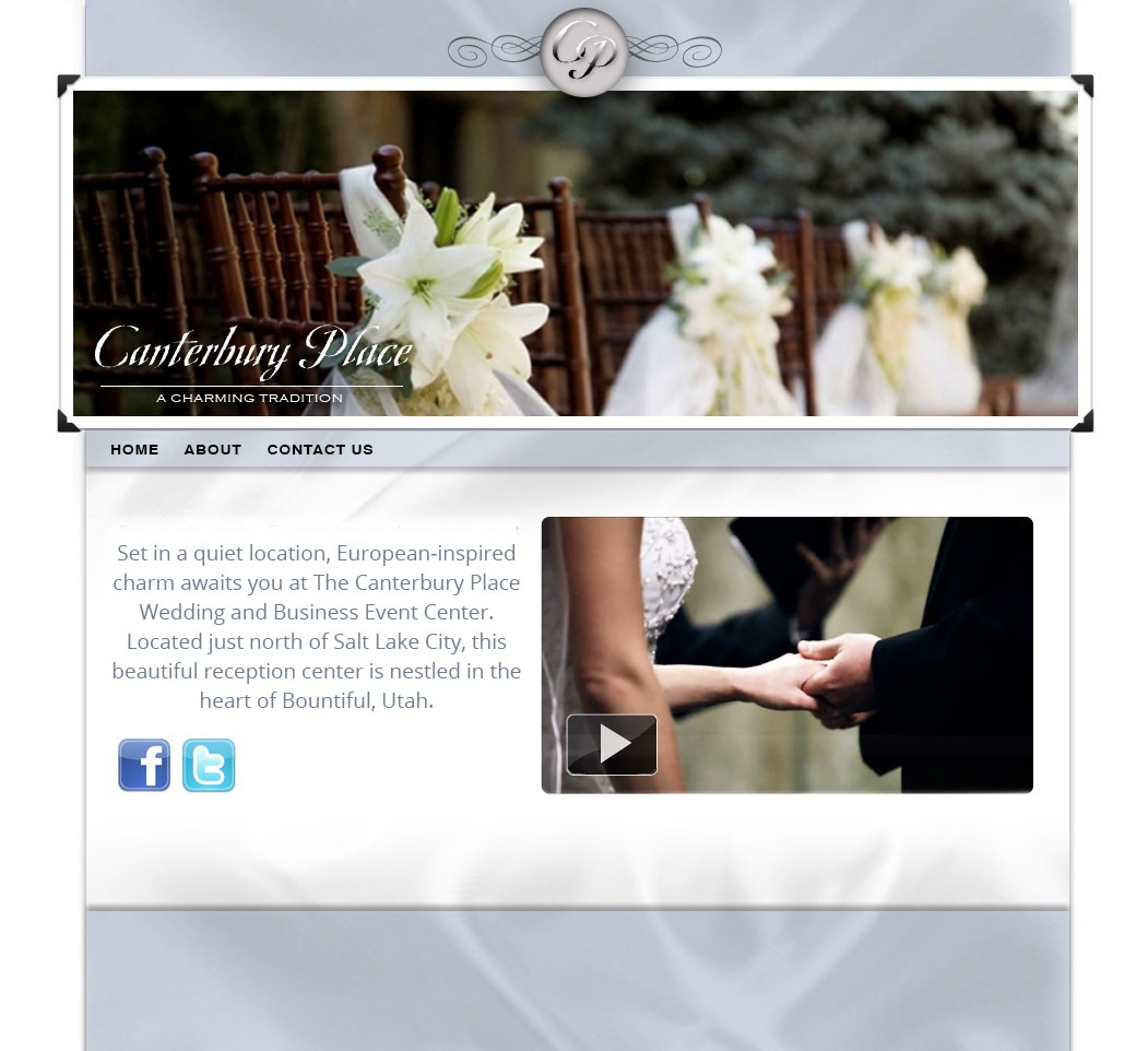 Website Design for Utah wedding reception venue